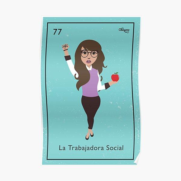 La Trabajadora Social Brunette Poster
