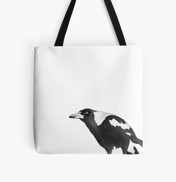 Australian native magpie watercolour by Love Stax All Over Print Tote Bag