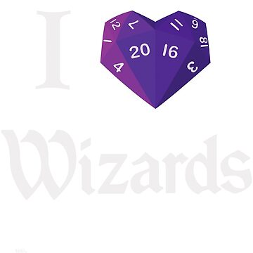 I Heart-20 Wizards by BartsGeekGifts