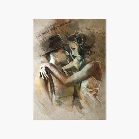Bonnie & Clyde Art Board Print