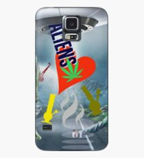 UFO Aliens love weed.  Case/Skin for Samsung Galaxy
