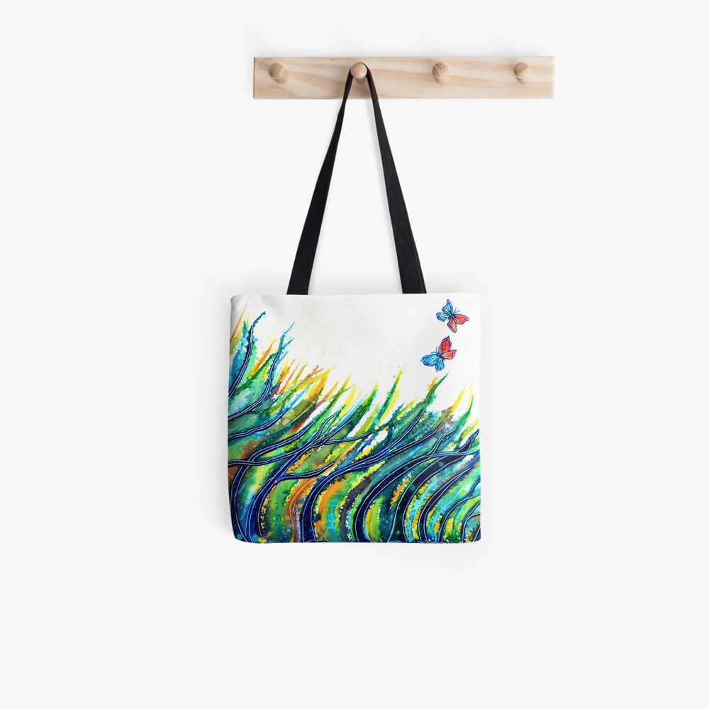 Rainbow Grass Tote Bag