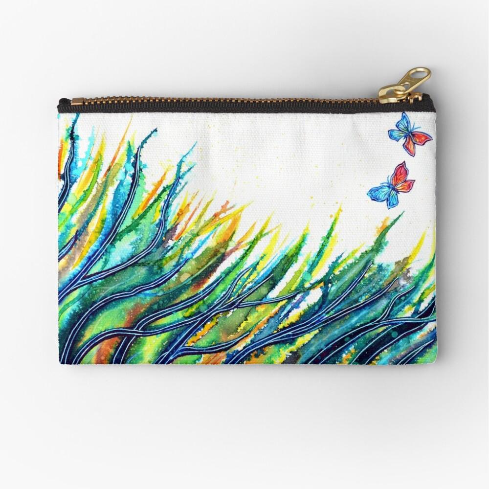 Rainbow Grass Zipper Pouch