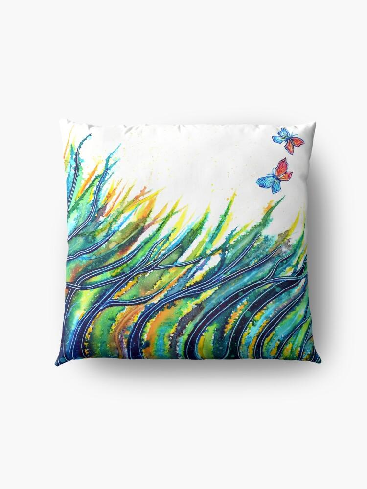 Alternate view of Rainbow Grass Floor Pillow