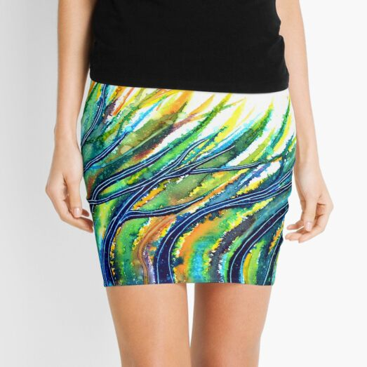 Rainbow Grass Mini Skirt