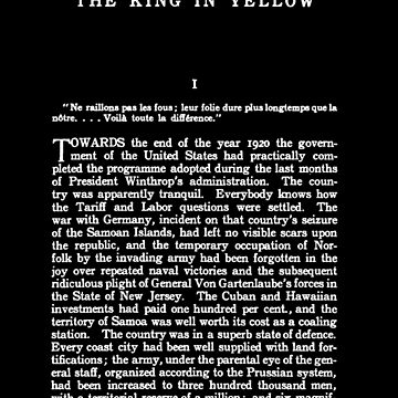 The King in Yellow Robert W. Chambers First Page by buythebook86