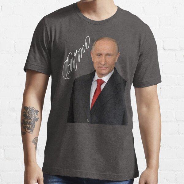 Printed Vladimir Putin Signature Suit Art Range Essential T-Shirt