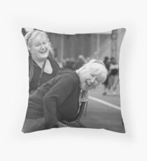 Laughter at Eastlink walk Throw Pillow