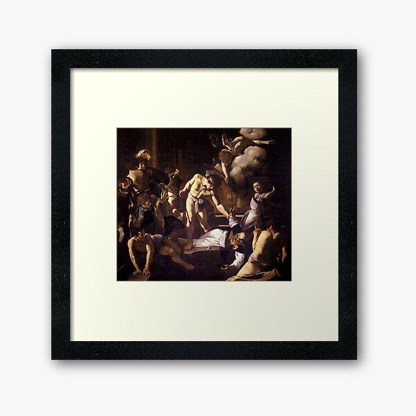 The Martyrdom of Saint Matthew by Caravaggio (1600) Framed Art Print