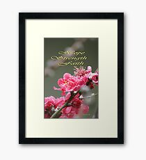 Hope, Faith, Strength; Wat Garden La Mirada, CA USA Framed Print