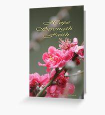 Hope, Faith, Strength; Wat Garden La Mirada, CA USA Greeting Card