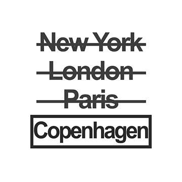 Copenhagen Denmark City Text design by GetItGiftIt
