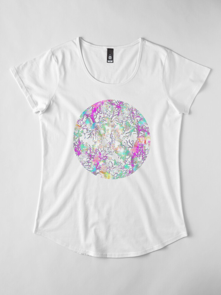 Alternate view of Halftone Abstraction Premium Scoop T-Shirt