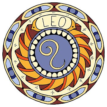 Leo Zodiac Sign Colorful Birth Horoscope Circle by peter2art