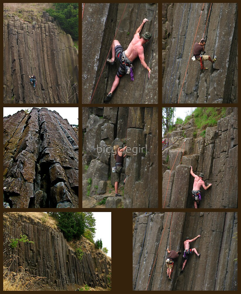 Climbing the Columns on Skinner Butte by bicyclegirl