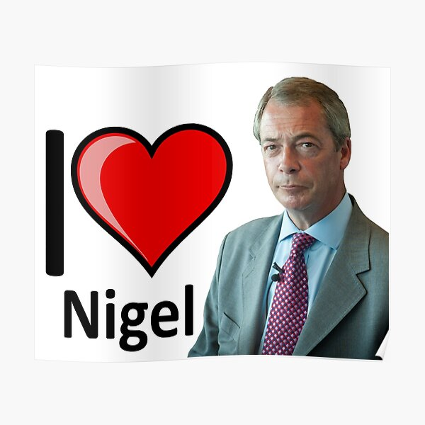 Nigel Farage Brexit Framed Canvas Wall Art Picture Print Ready To Hang
