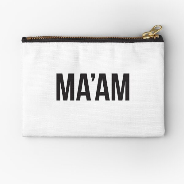 MA'AM – black type Zipper Pouch