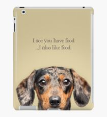 Funny and Hungry Dachshund iPad Case/Skin