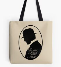 Somewhere in Time Silhouette Richard Collier Tote Bag