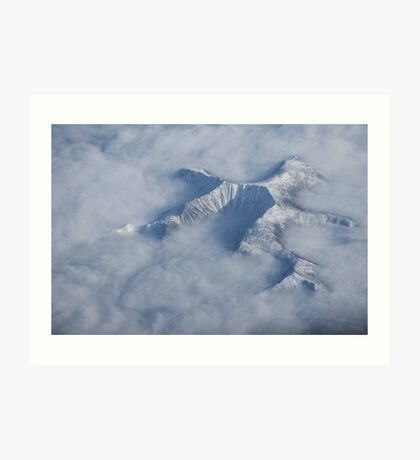 Peaking through the Clouds Art Print