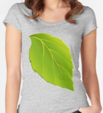 simple and green Women's Fitted Scoop T-Shirt