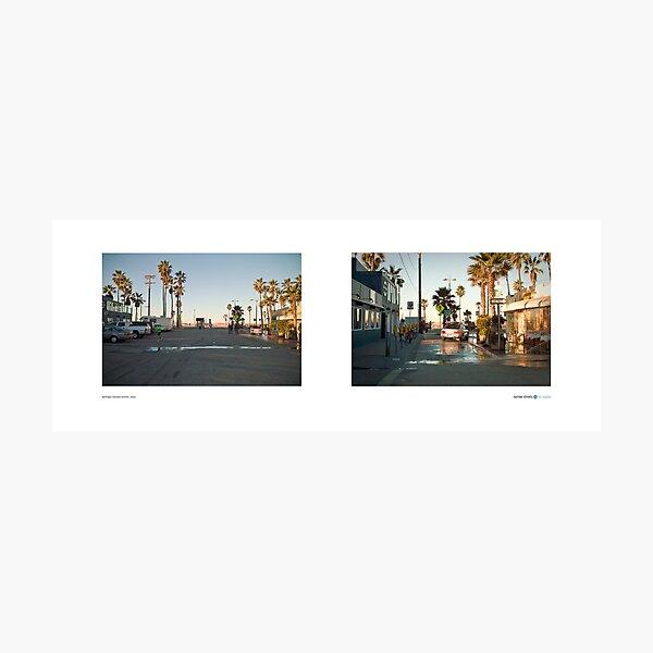 Washington Boulevard Terminus, Venice, Los Angeles, California, USA...narrowed. Photographic Print