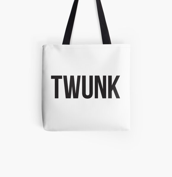 TWUNK – black type All Over Print Tote Bag