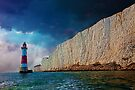 Beachy Head Lighthouse and Cliffs from the Sea by Chris Lord