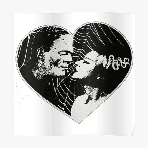 Frankenstien and Bride of Frankenstein in Love Poster