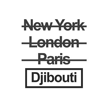 Djibouti Capitol City Text design by GetItGiftIt