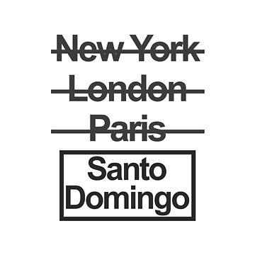 Dominican Republic Santo Domingo City Text design by GetItGiftIt