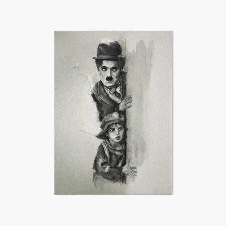 Charlie Chaplin - The Kid Art Board Print