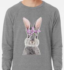 Häschen mit Blumen Leichtes Sweatshirt