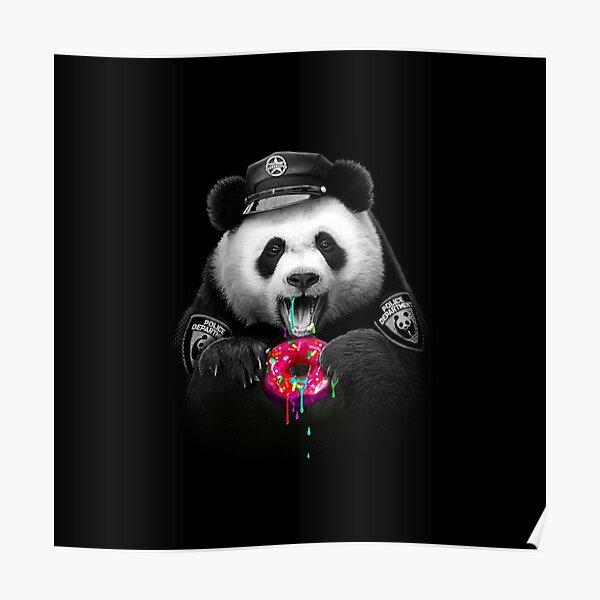Panda love Donuts Poster