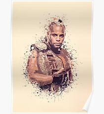 Daniel Cormier splatter Poster