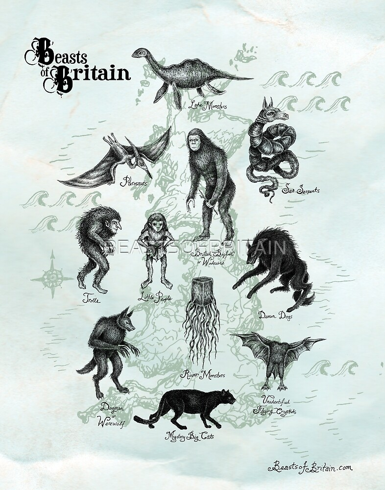 Beasts of Britain Map by BEASTSOFBRITAIN