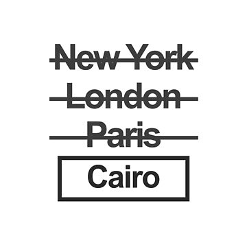Egypt Cairo City Text design by GetItGiftIt