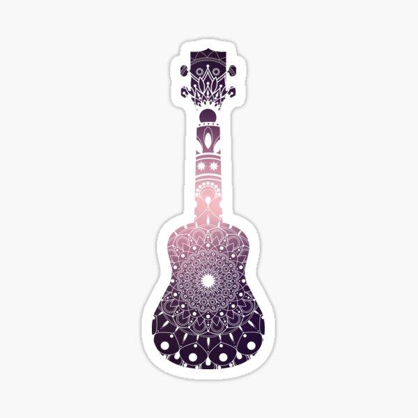 UKULELE gradient design with mandala rosette Sticker