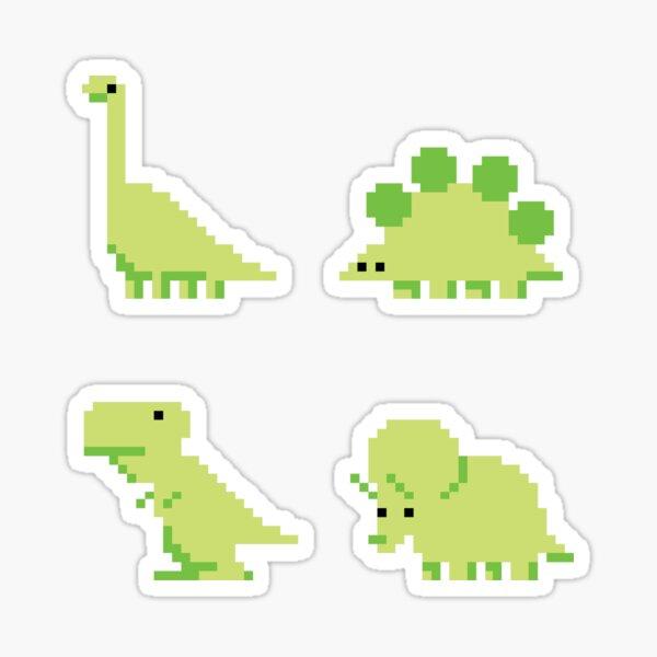 Bit-Dinosaurs Stickers Sticker