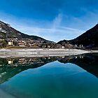 Reflection on Molveno Lake by Antonio Zarli