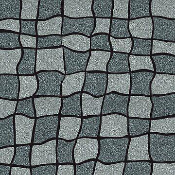 Swirly Tweed Check Design - Grey by cmphotographs