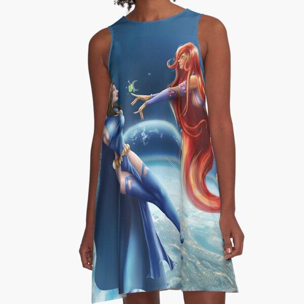 Space Friends A-Line Dress