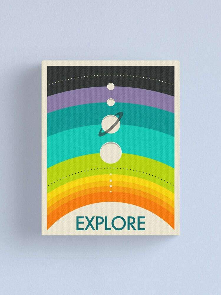 Alternate view of THE SOLAR SYSTEM Canvas Print