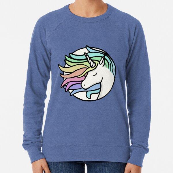 Cute Retro Rainbow Unicorn Lightweight Sweatshirt