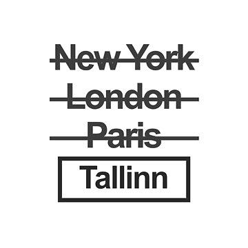 Estonia Tallinn City Text design by GetItGiftIt