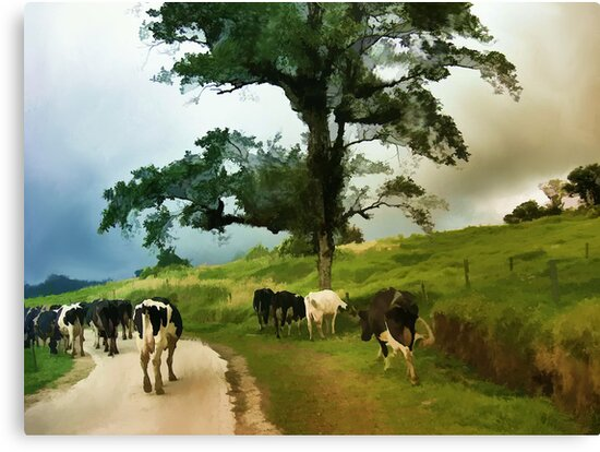 Going Home After A Days Outing  by Elaine Manley