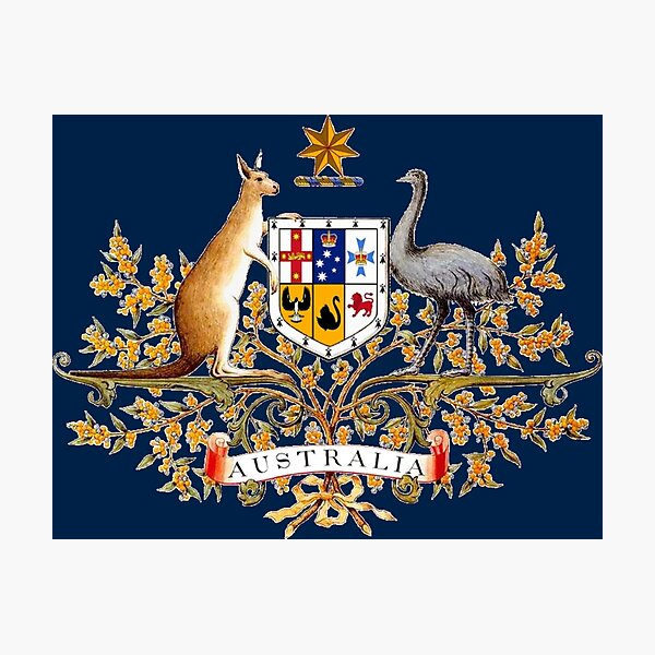 Australian Coat of Arms Photographic Print