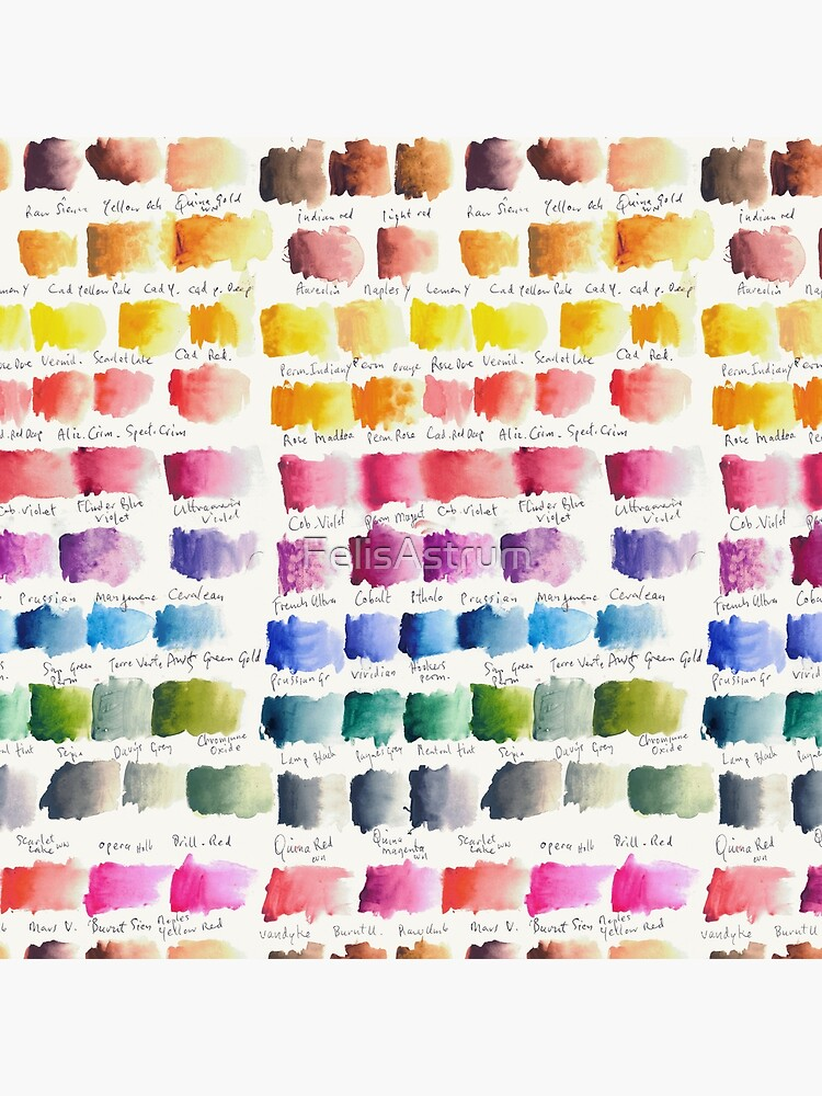 Watercolour Palette by FelisAstrum
