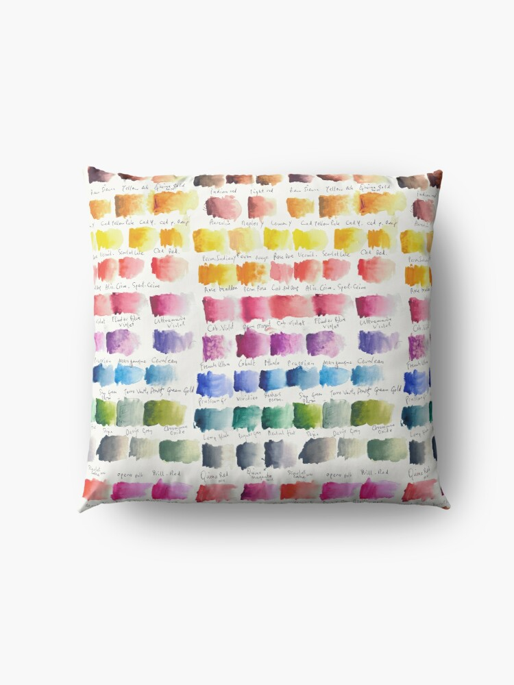 Alternate view of Watercolour Palette Floor Pillow