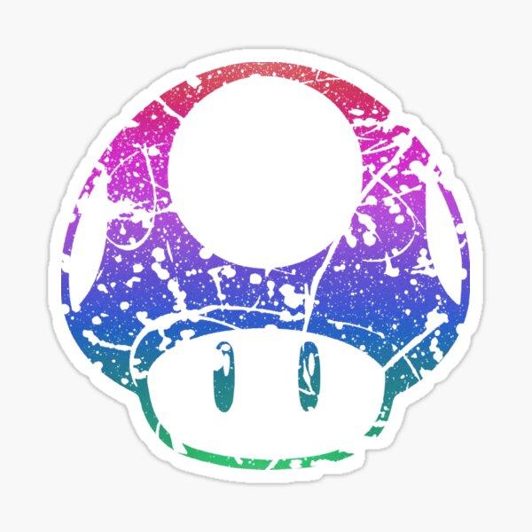 Invincibility Mushroom Splatter Sticker